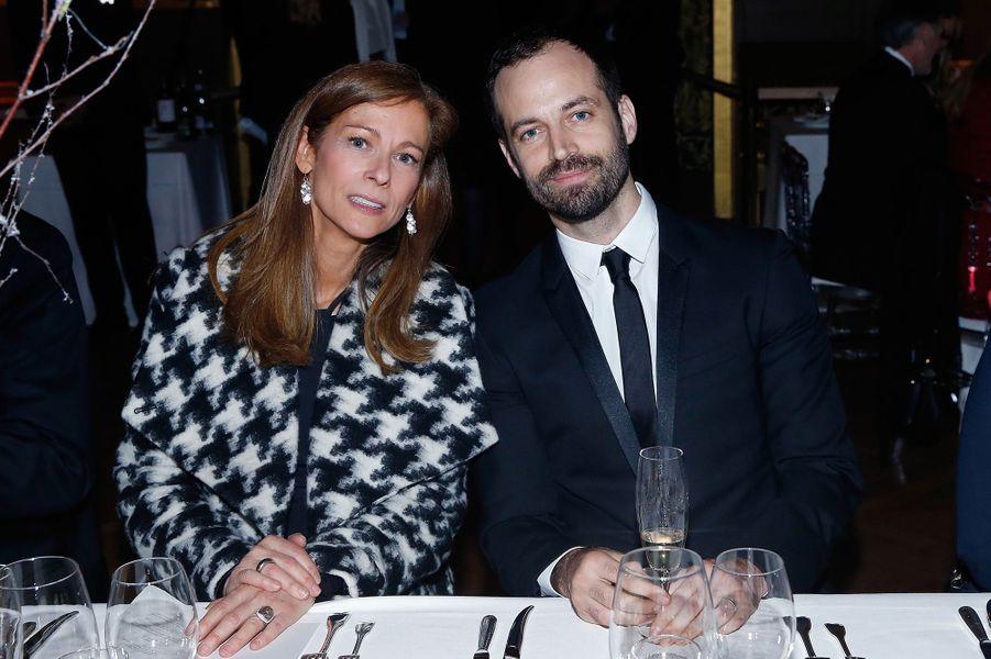 Anne Gravoin et Benjamin Millepied à Paris le 9 mars 2016