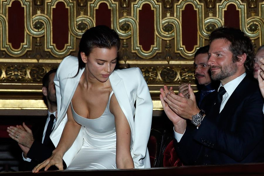 Irina Shayk et Bradley Cooper à Paris le 9 mars 2016