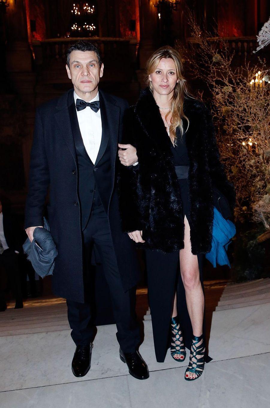 Marc et Sarah Lavoine à Paris le 9 mars 2016