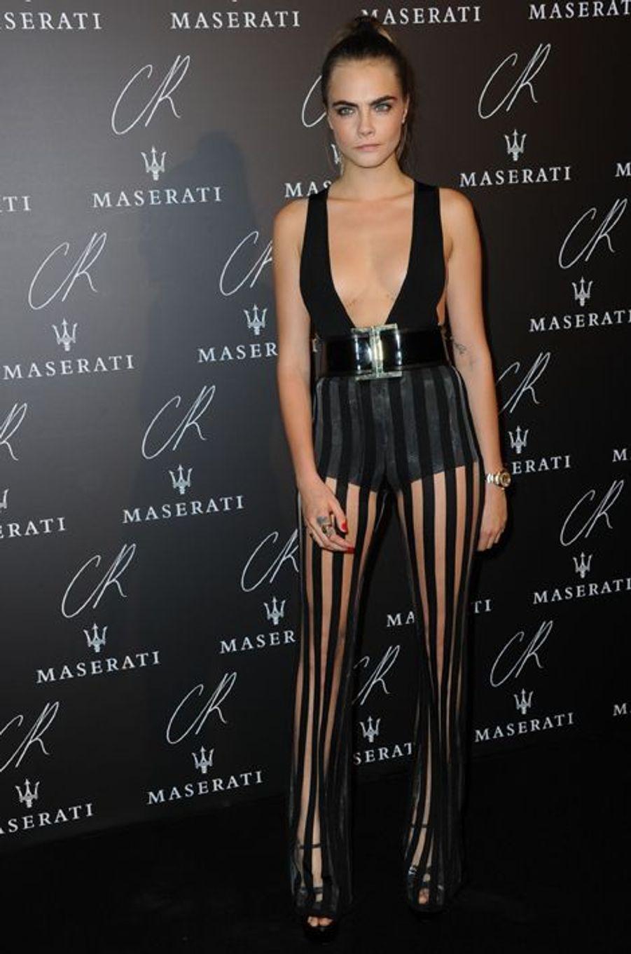 Cara Delevingne à la soirée CR Fashion Book organisée à Paris le mardi 30 septembre 2014