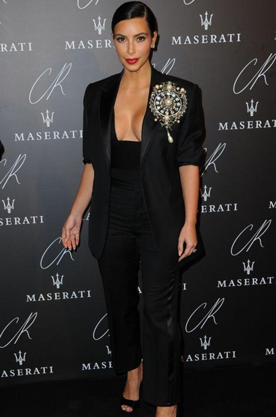 Kim Kardashian à la soirée CR Fashion Book organisée à Paris le mardi 30 septembre 2014