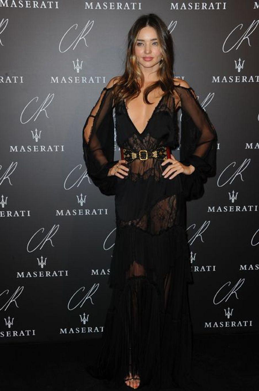 Miranda Kerr à la soirée CR Fashion Book organisée à Paris le mardi 30 septembre 2014