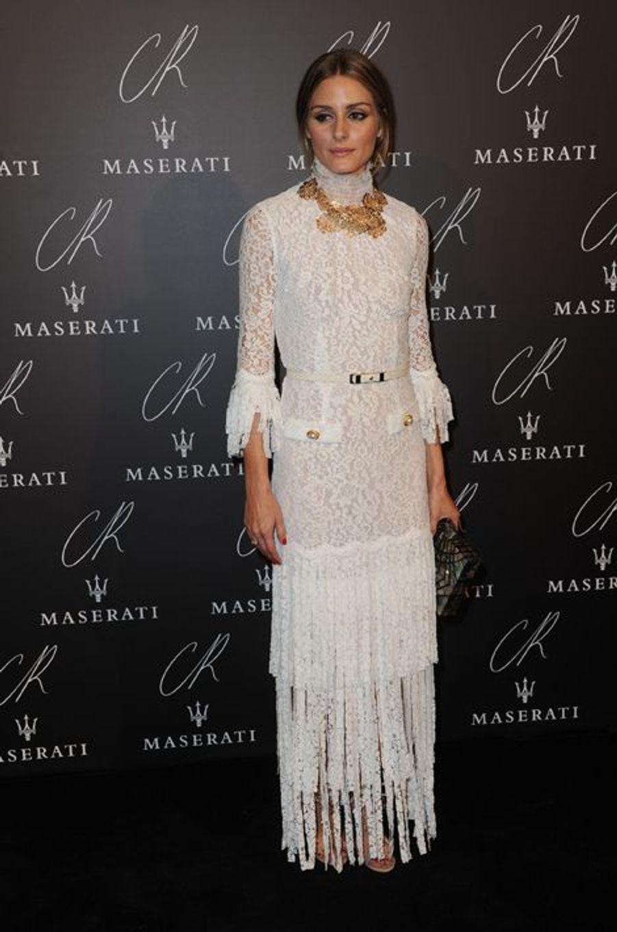 Olivia Palermo à la soirée CR Fashion Book organisée à Paris le mardi 30 septembre 2014