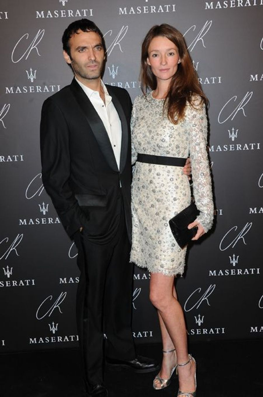 Stephan Gan et Audrey Marnay à la soirée CR Fashion Book organisée à Paris le mardi 30 septembre 2014