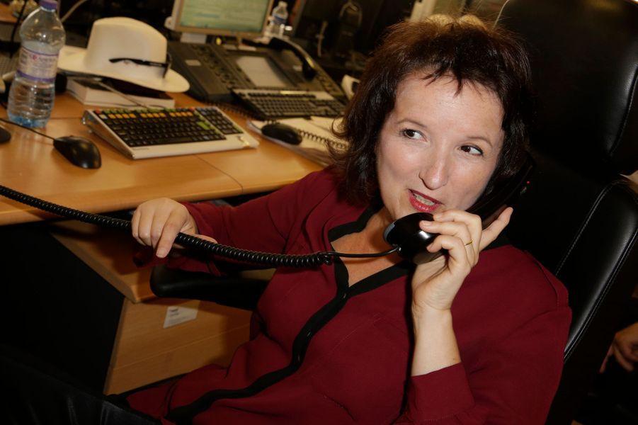 Anne Romanoff mobilisée pour le Charity Day à Paris le 11 septembre 2014