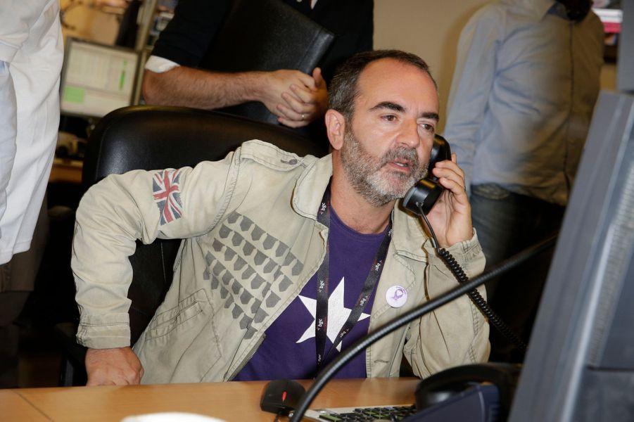 Bruno Solo mobilisé pour le Charity Day à Paris le 11 septembre 2014.
