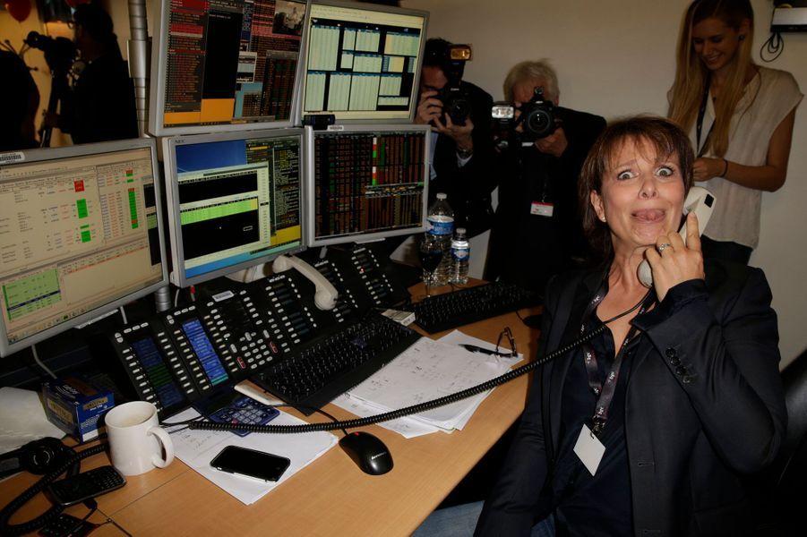 Carole Rousseau mobilisée pour le Charity Day à Paris le 11 septembre 2014.