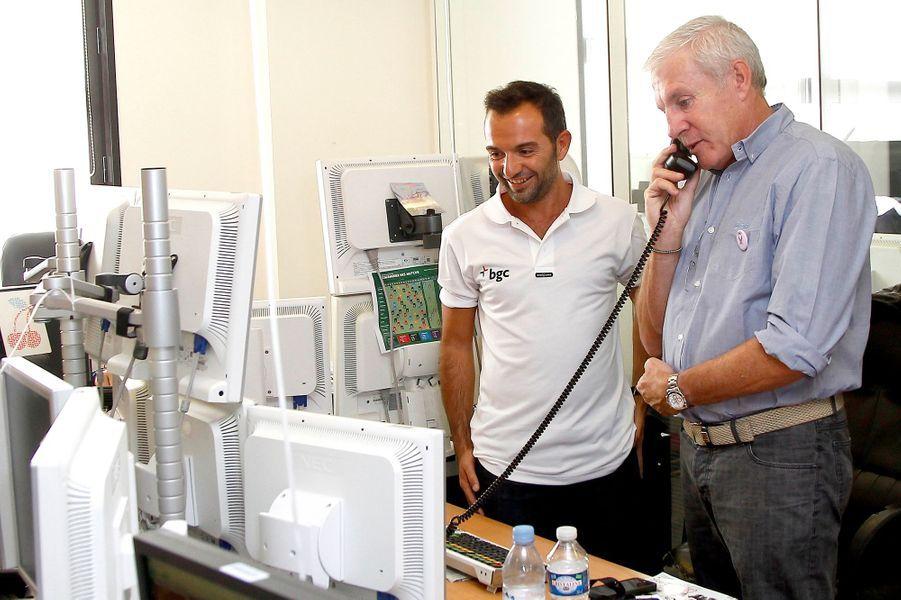 Luis Fernandez mobilisé pour le Charity Day à Paris le 11 septembre 2014.