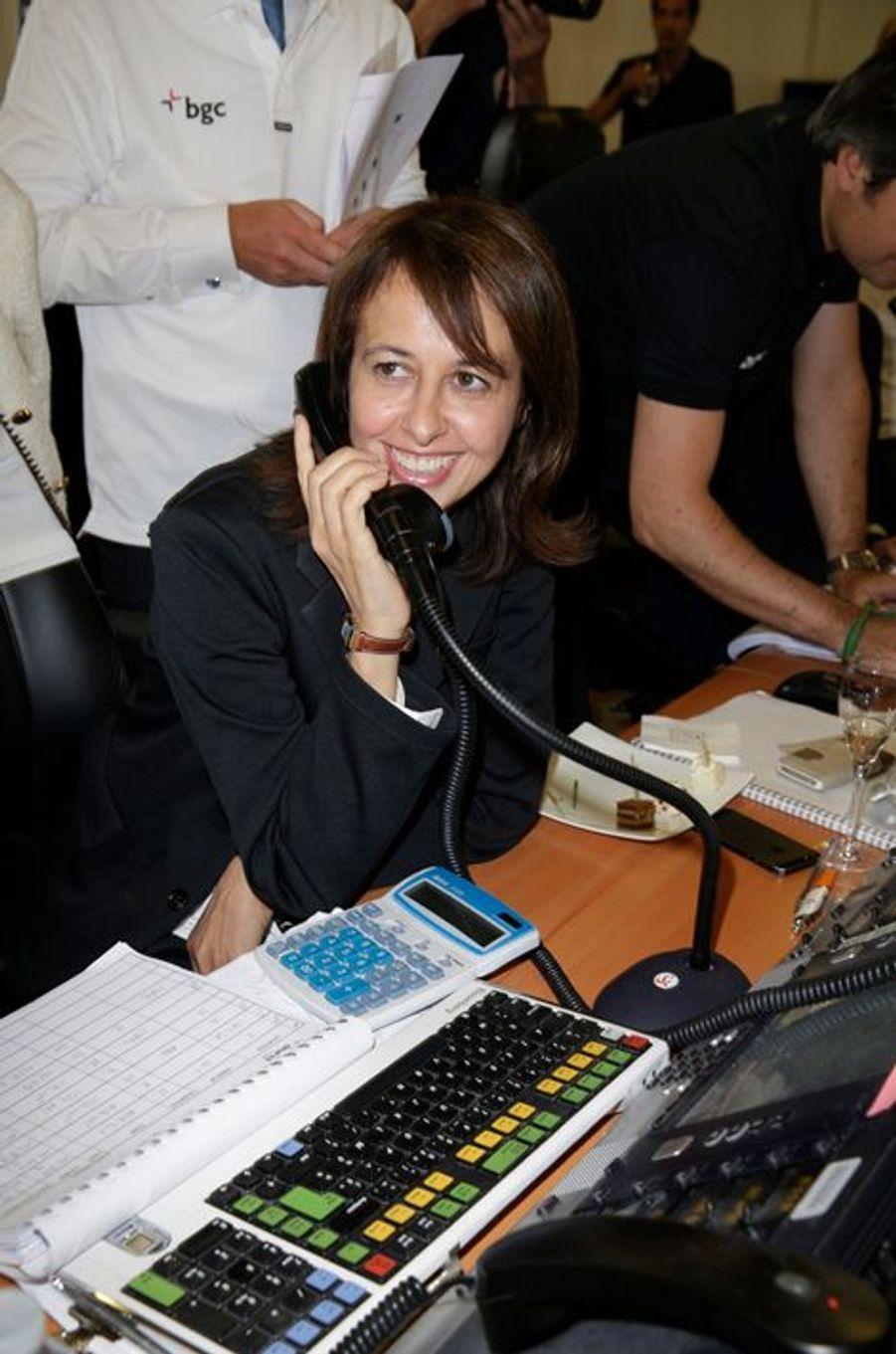 Valérie Bonneton mobilisée pour le Charity Day à Paris le 11 septembre 2014.