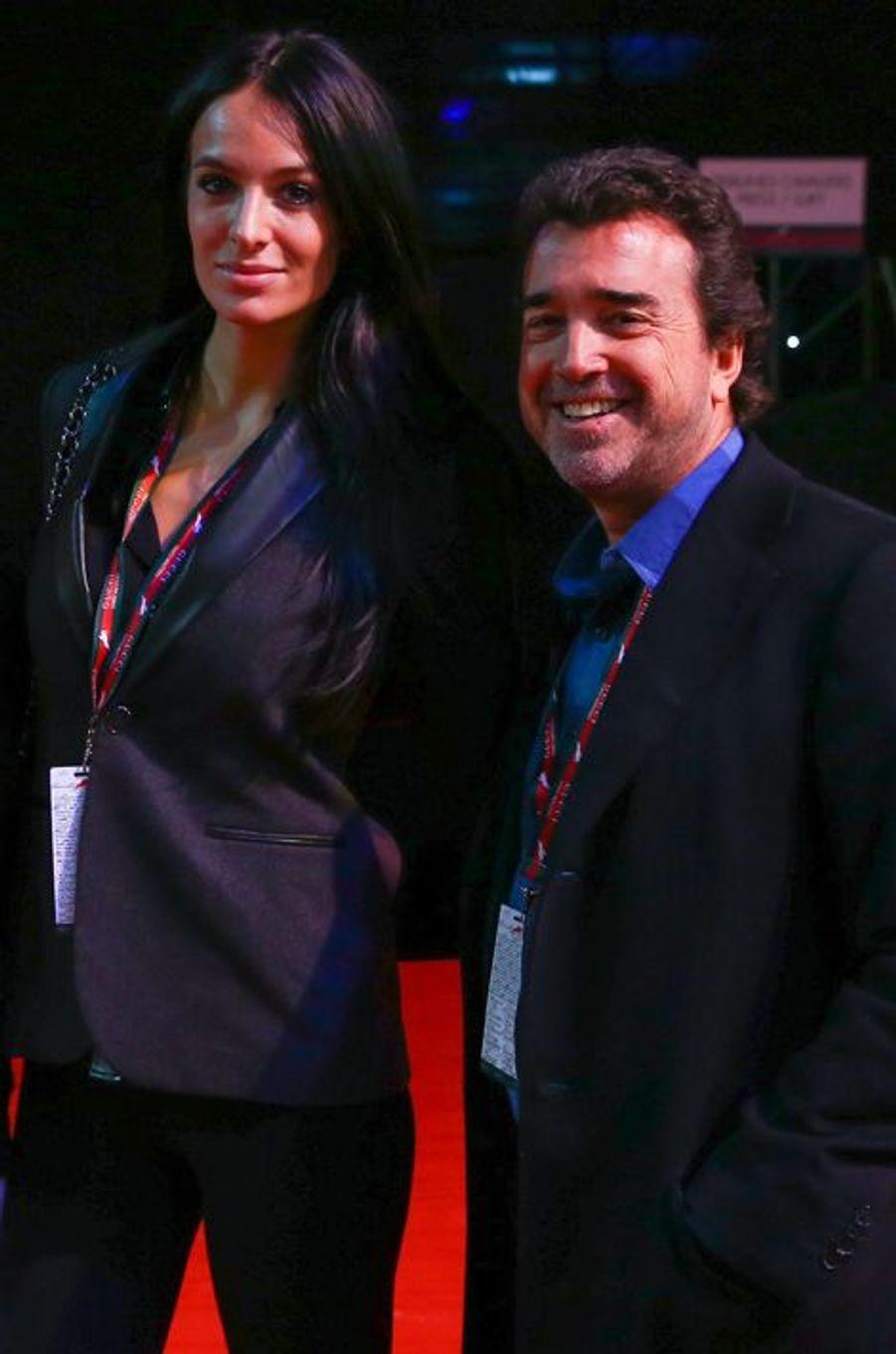 Arnaud Lagardère et son épouse Jade Foret au Gucci Paris Masters 2014 qui se tient à Paris du 4 au 7 décembre