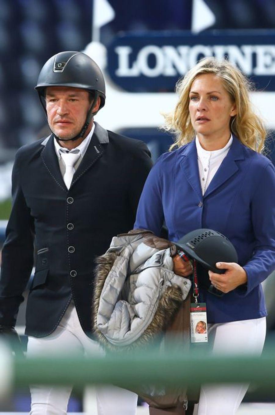 Benjamin Castaldi et son épouse Vanessa Broussouloux au Gucci Paris Masters 2014 qui se tient à Paris du 4 au 7 décembre