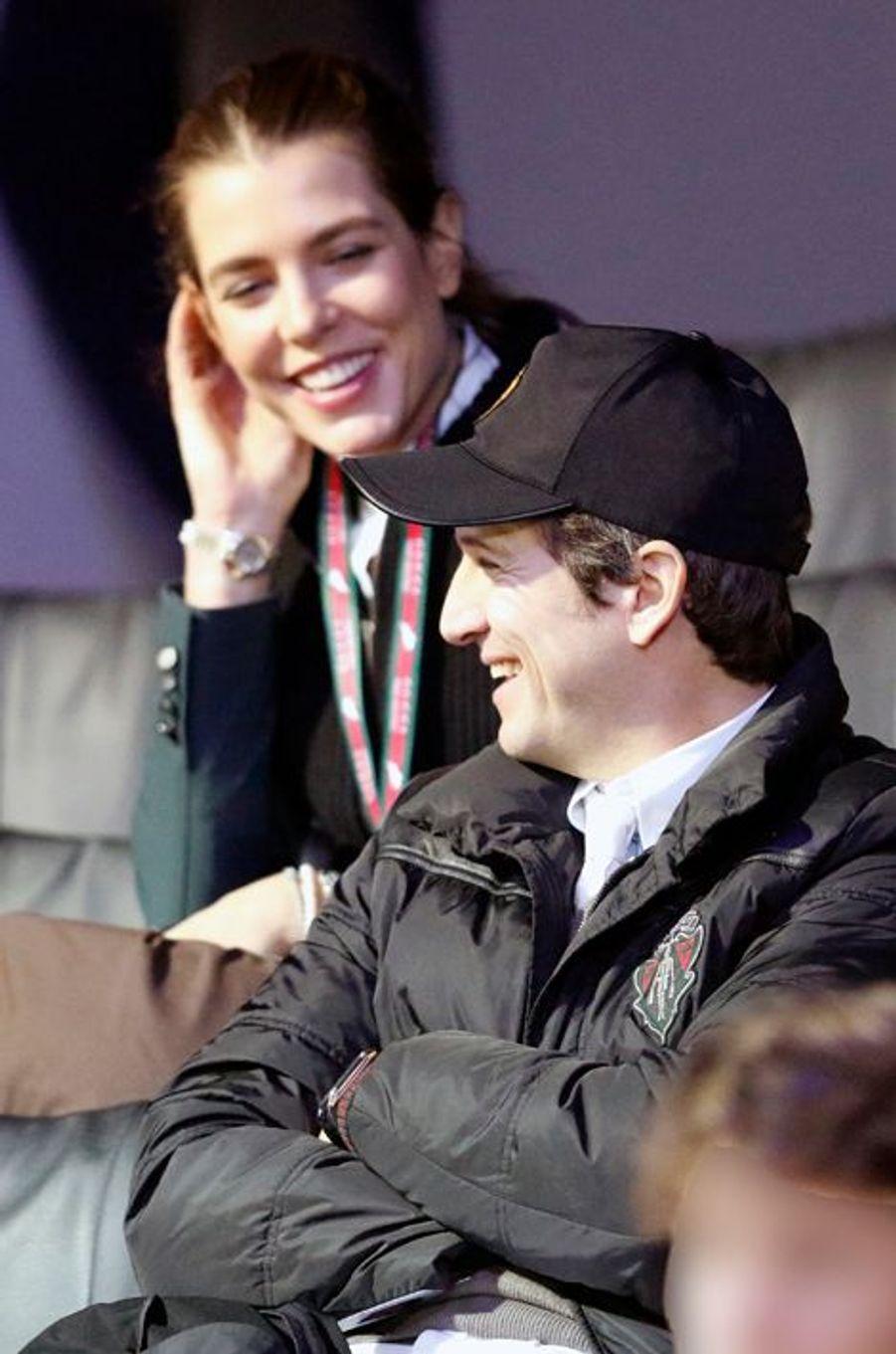 Charlotte Casiraghi et Guillaume Canet au Gucci Paris Masters 2014 qui se tient à Paris du 4 au 7 décembre