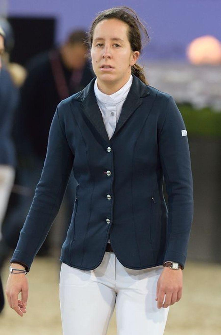 Louise Rochefort au Gucci Paris Masters 2014 qui se tient à Paris du 4 au 7 décembre