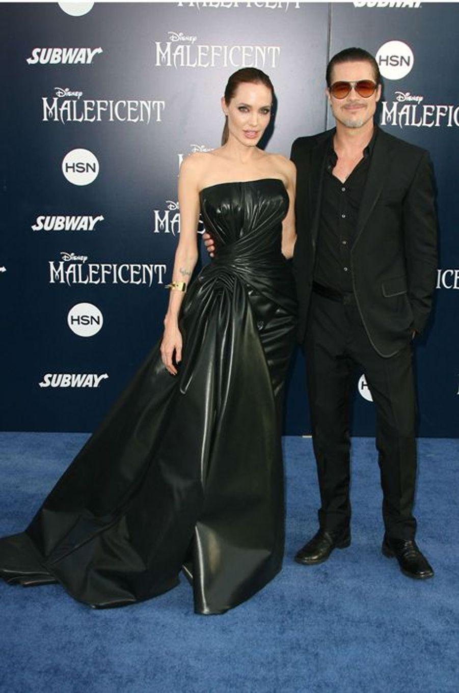 Angelina Jolie et Brad Pitt à Los Angeles le 29 mai 2014.