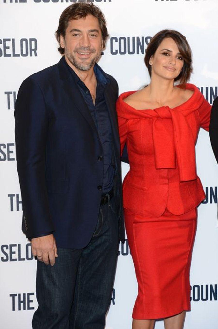 Pénelope Cruz et Javier Bardem à Londres le 5 octobre 2013.