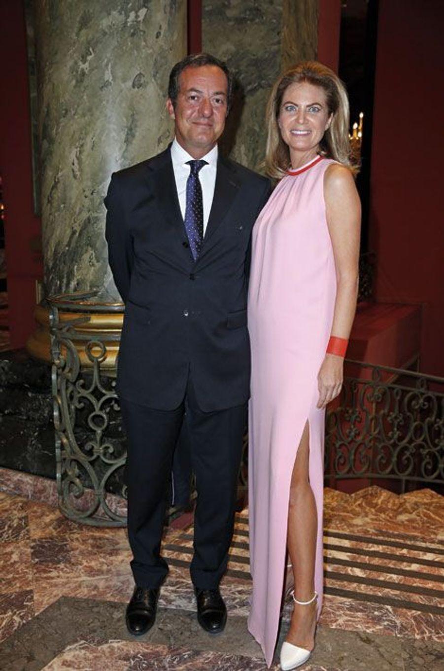 Frédéric Naquet et Arielle de Rothschild (en Dior)