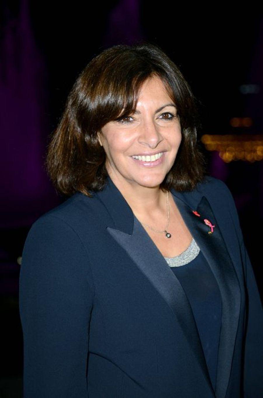 Anne Hidalgo à la soirée Ruban Rose 2014 au Palais Chaillot le 7 octobre 2014 à Paris