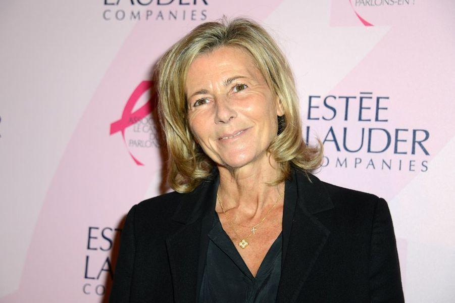 Claire Chazal à la soirée Ruban Rose 2014 au Palais Chaillot le 7 octobre 2014 à Paris