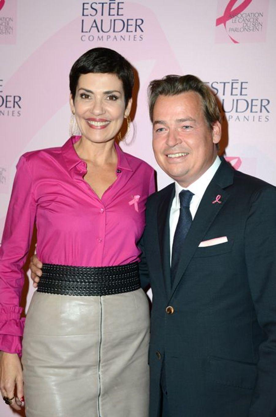 Cristina Cordula et Henk Van der Mark à la soirée Ruban Rose 2014 au Palais Chaillot le 7 octobre 2014 à Paris