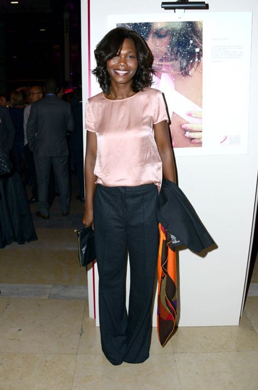 Kareen Guiock à la soirée Ruban Rose 2014 au Palais Chaillot le 7 octobre 2014 à Paris