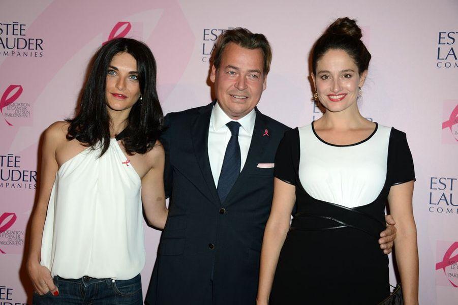 Pauline Delpech, Henk Van der Mark et Marie Gillain à la soirée Ruban Rose 2014 au Palais Chaillot le 7 octobre 2014 à Paris