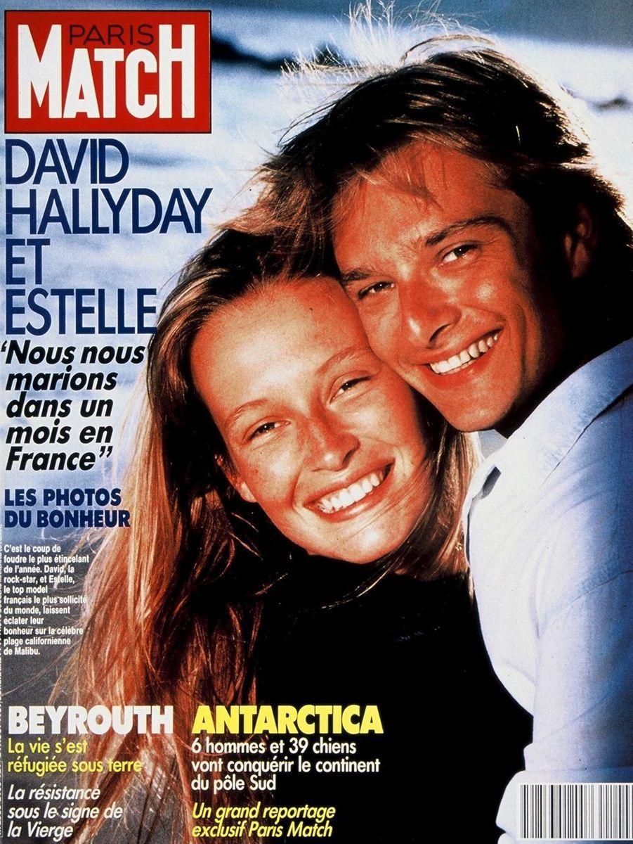 Estelle Lefébure et David Hallyday