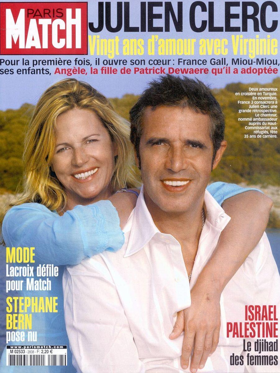 Virginie Coupérie-Eiffel et Julien Clerc