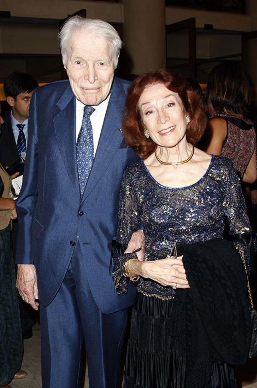 Le professeur Christian Cabrol et son épouse