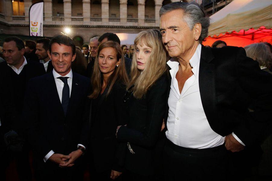 Manuel Valls, Anne Gravoin, Arielle Dombasle et Bernard Henri-Lévy