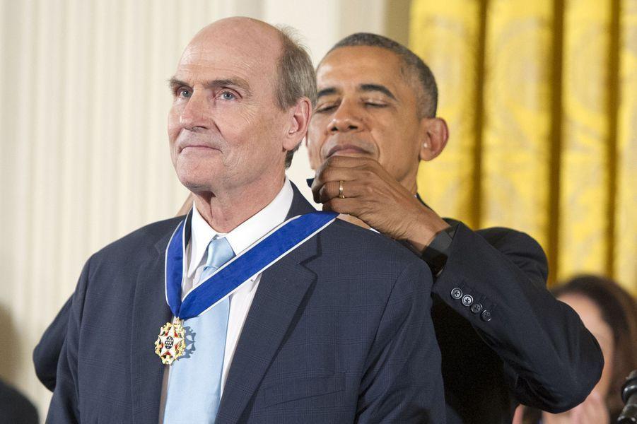 James Taylor et Barack Obama à Washington le 24 novembre 2015