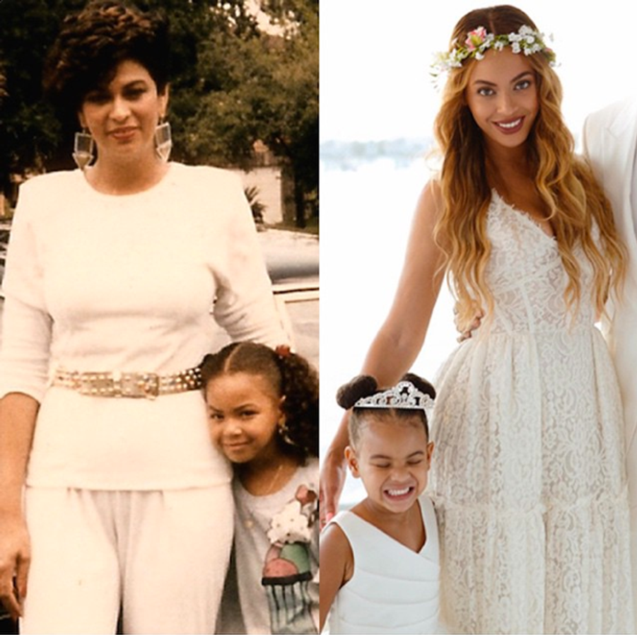 Une double fête des mères pour Beyoncé, sa mère Tina Knowles et sa fille Blue Ivy