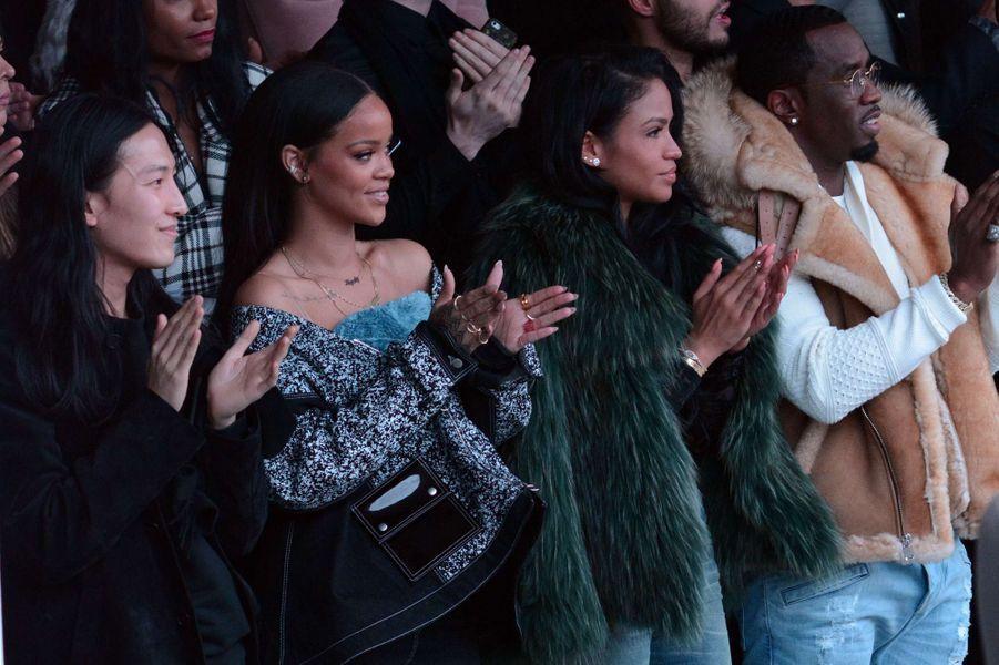 Alexander Wang, Rihanna, Cassie et Diddy au défilé Adidas par Kanye West