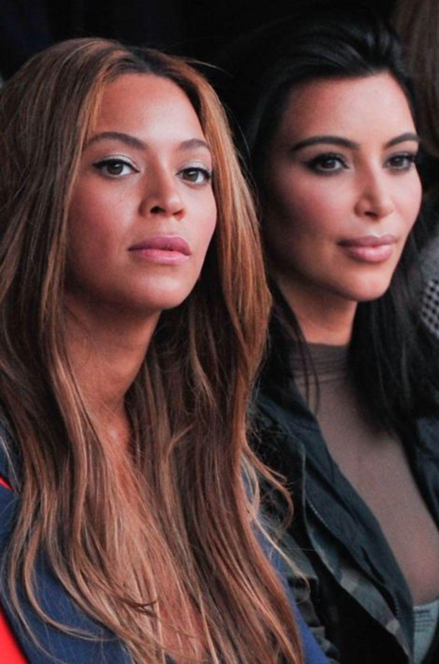 Beyoncé et Kim Kardashian au défilé Adidas par Kanye West