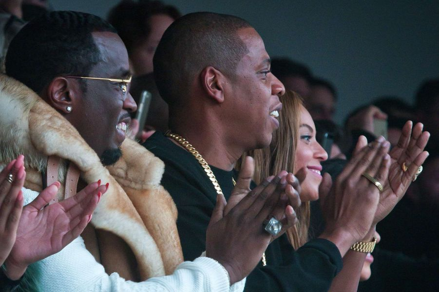Diddy, Jay-Z et Beyoncé au défilé Adidas par Kanye West