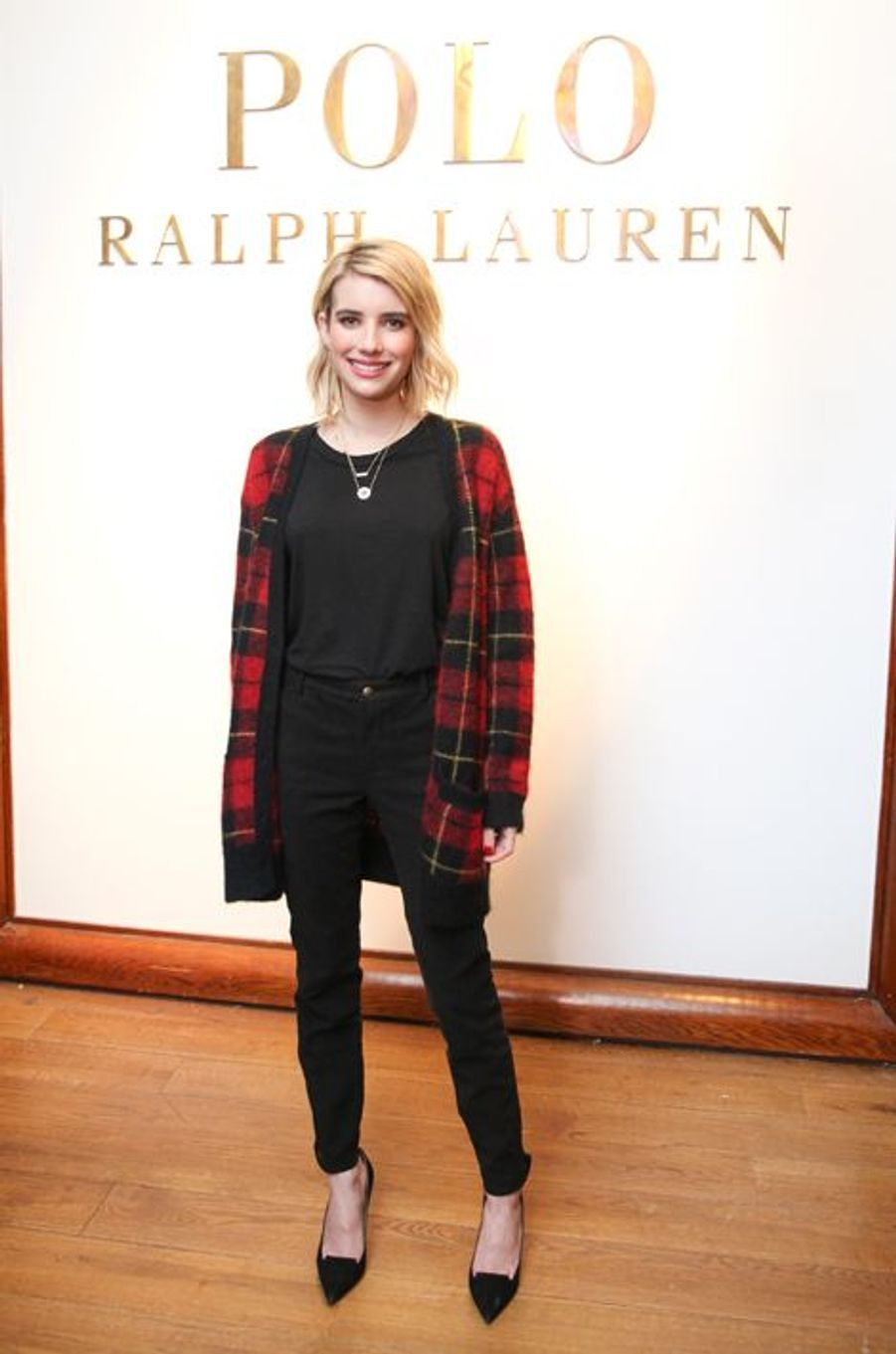 Emma Roberts à la présentation Polo Ralph Lauren de la Fashion Week de New York