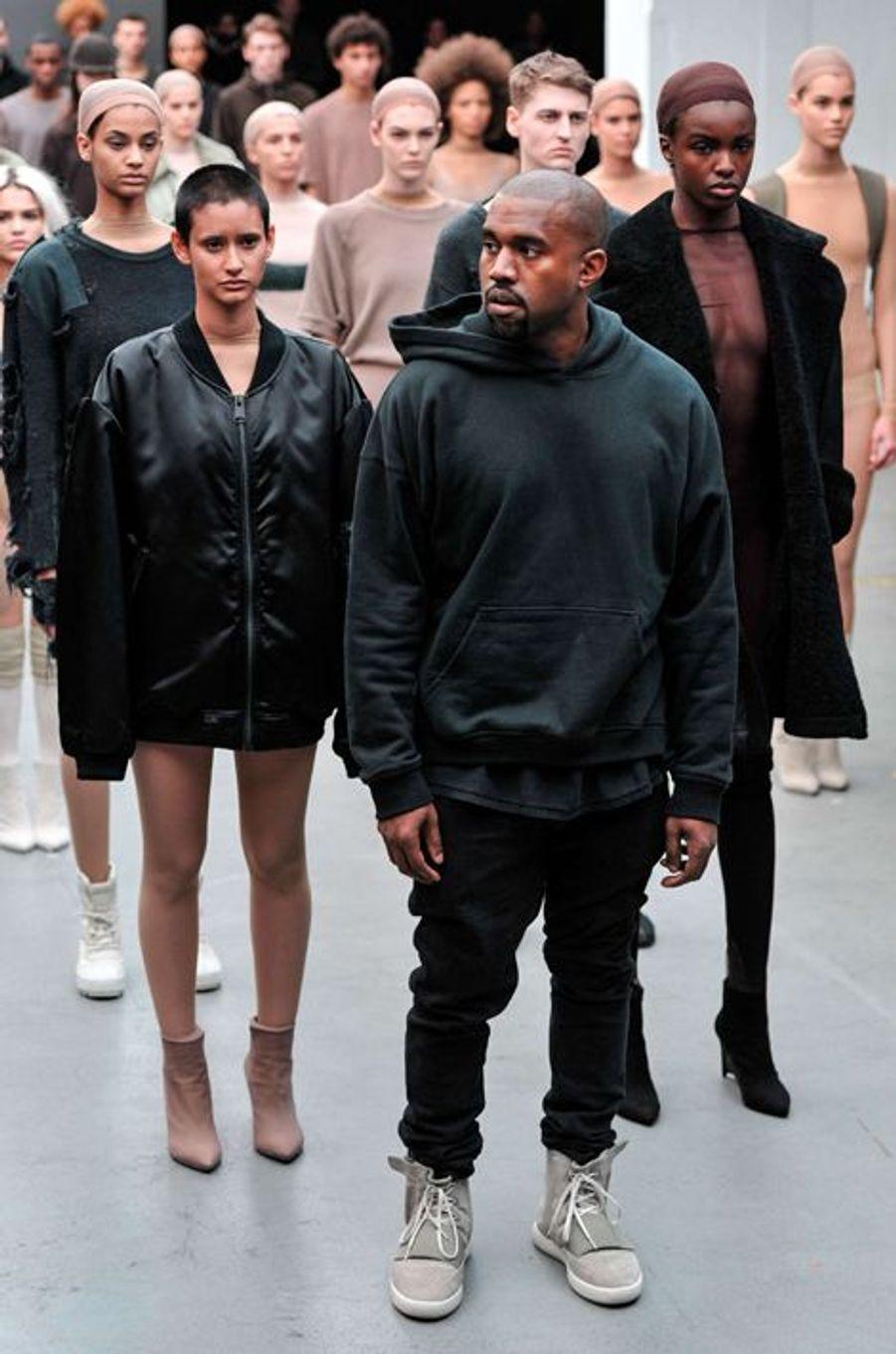 Kanye West dévoile sa collaboration avec Adidas à la Fashion Week de New York