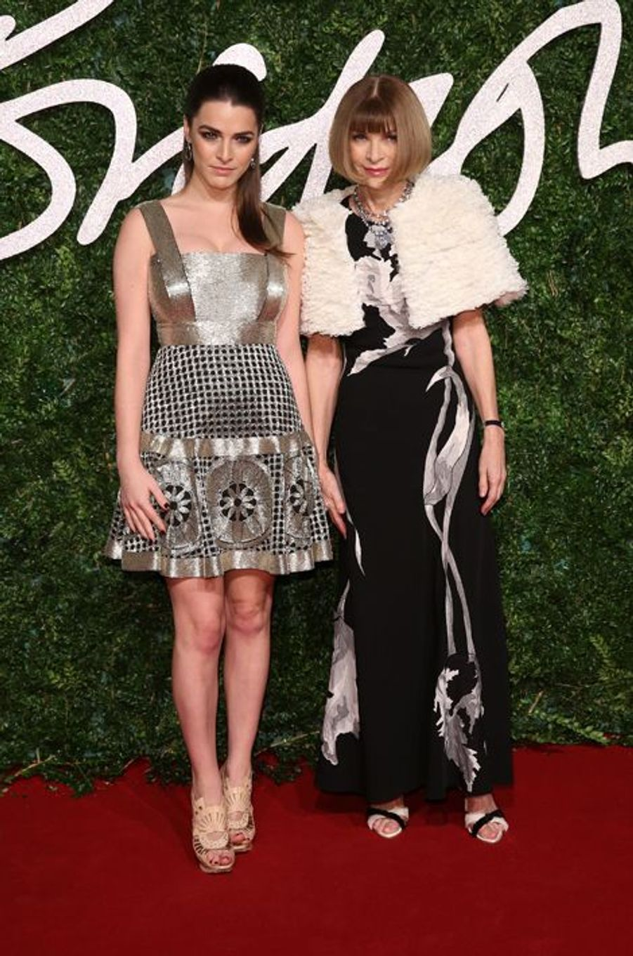 Bee Shaffer et Anna Wintour à Londres le 1er décembre 2014