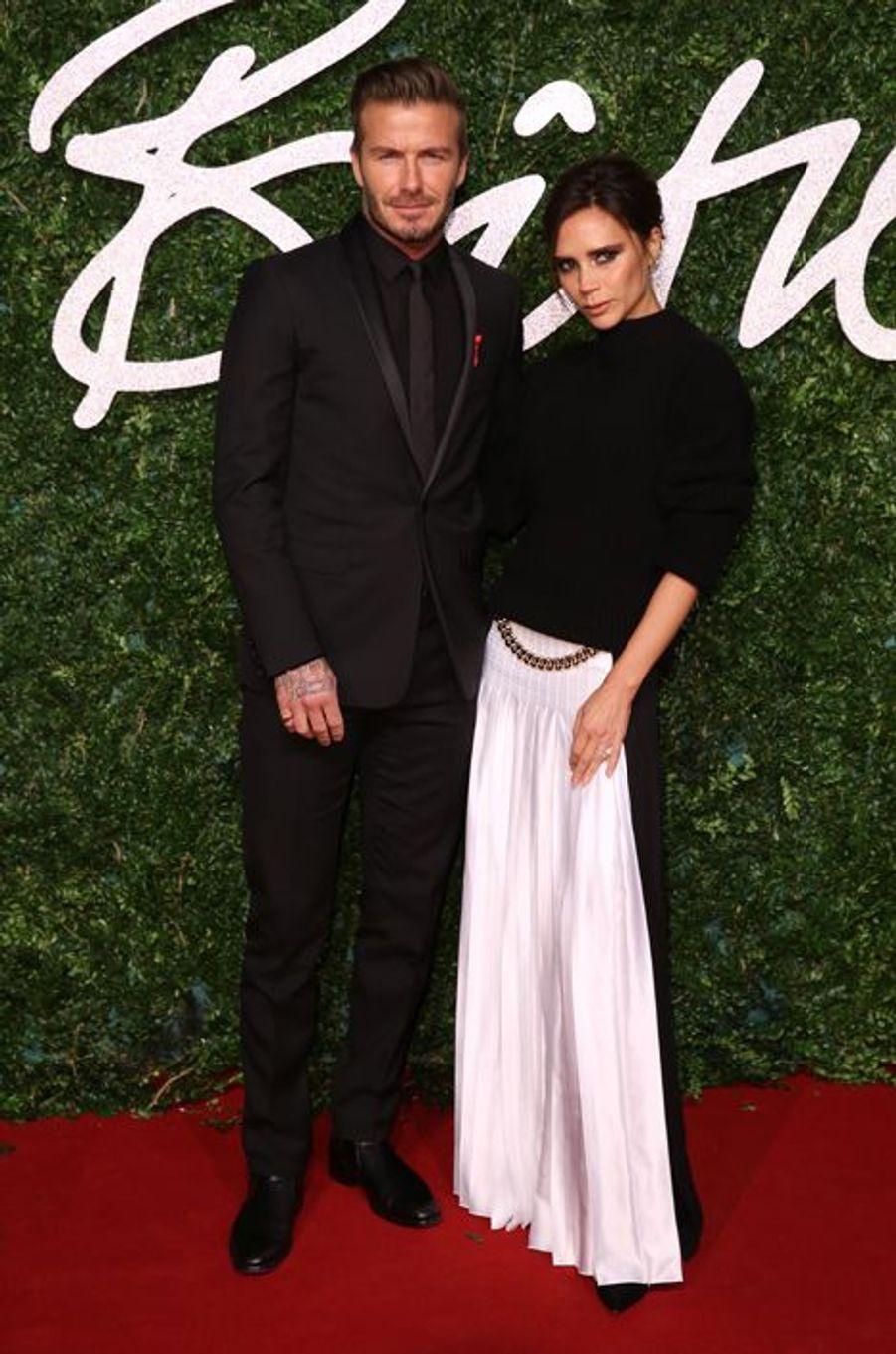 David et Victoria Beckham à Londres le 1er décembre 2014