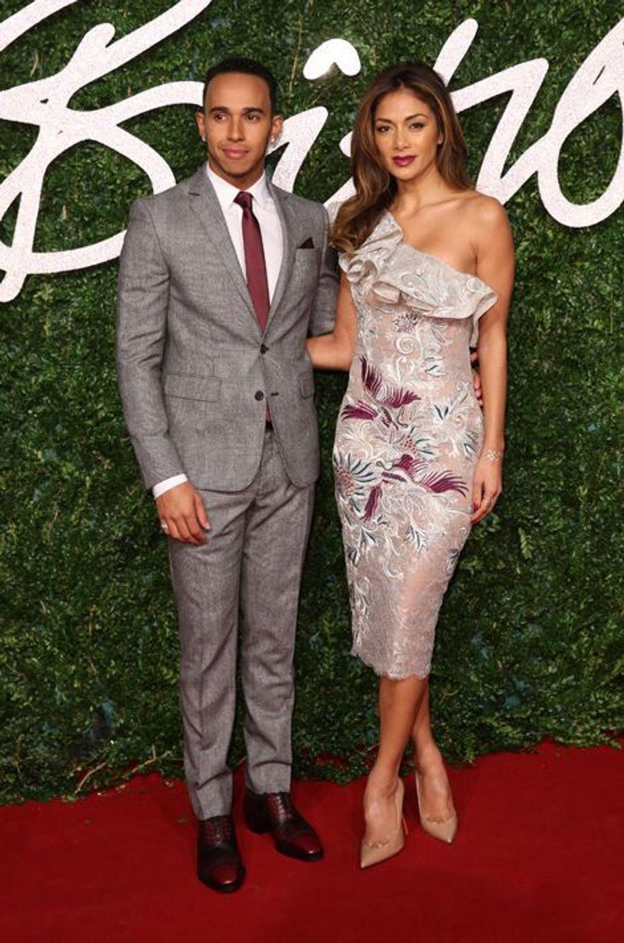 Lewis Hamilton et Nicole Scherzinger à Londres le 1er décembre 2014