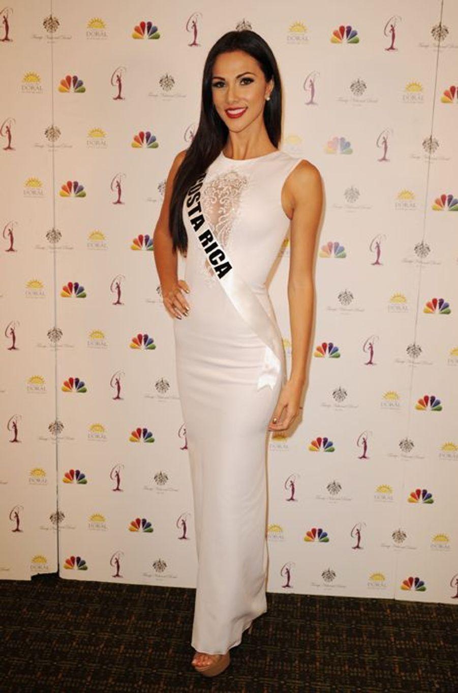 Miss Costa Rica à la dernière conférence de presse Miss Univers 2015