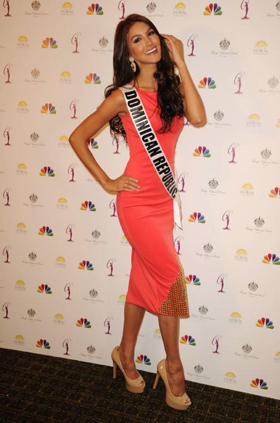 Miss République Dominicaine à la dernière conférence de presse Miss Univers 2015