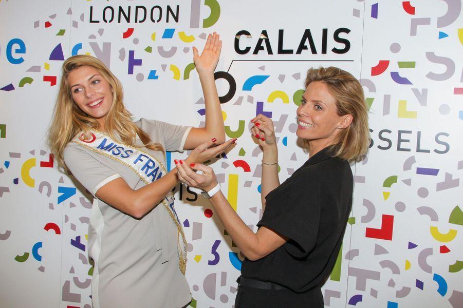 Camille Cerf et Sylvie Tellier à Cannes le 11 mars 2015