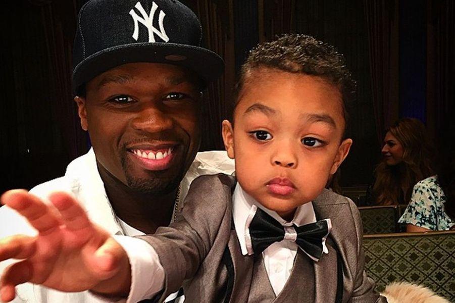Le rappeur est père de deux garçons : Sire et Marquise, ici en photo.