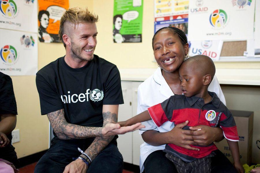 David Beckham, en décembre 2009 à Cape Town