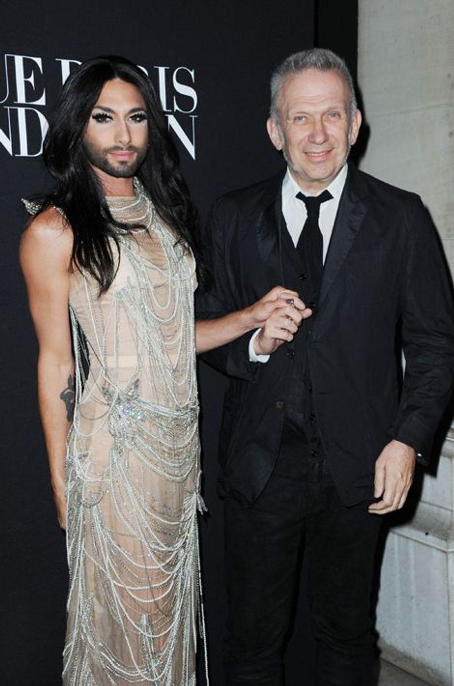 Conchita Wurst et Jean Paul Gaultier
