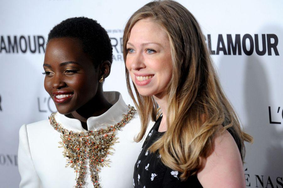 Lupita Nyong'o et Chelsea Clinton