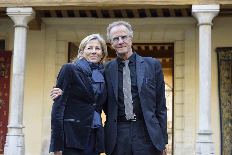 Claire Chazal et Christophe Lambert le 15 novembre 2015