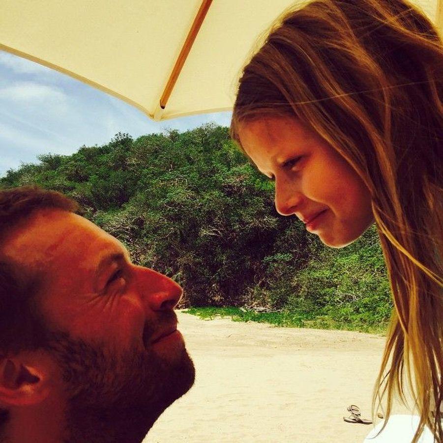 Chris Martin et sa fille