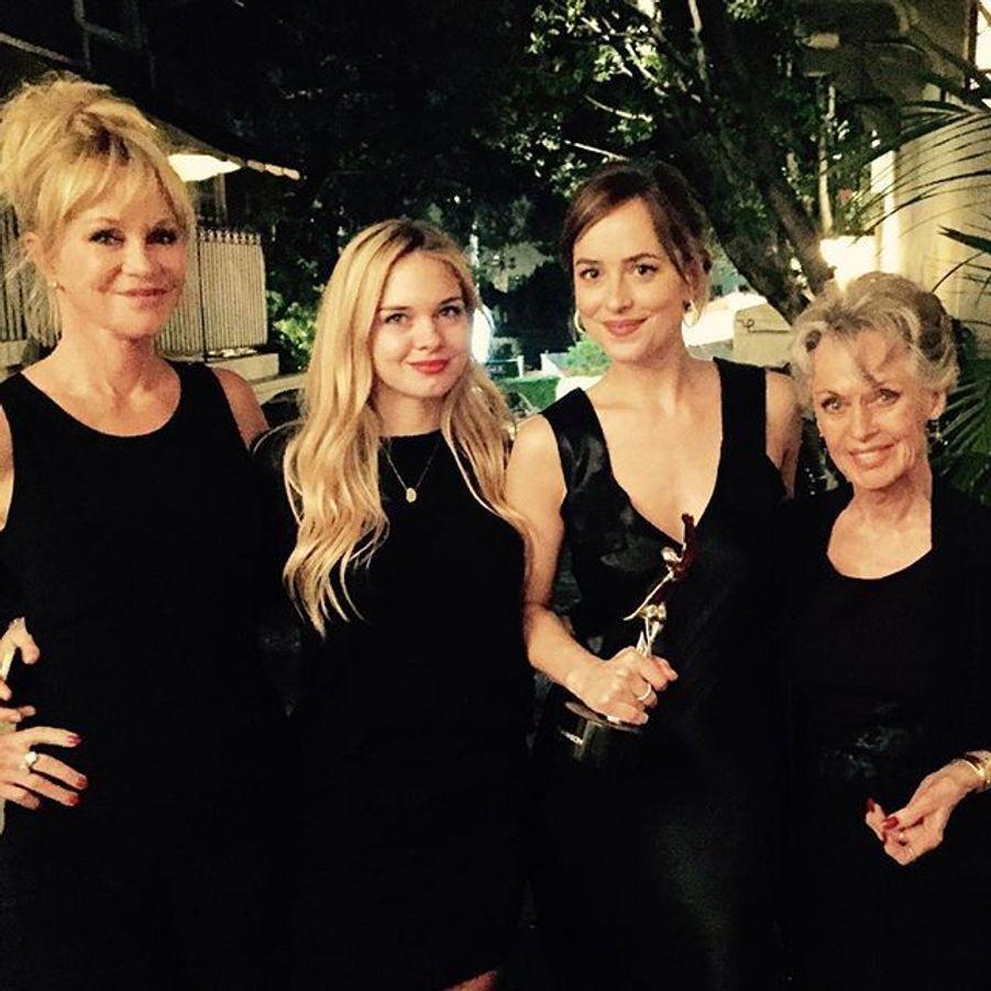 Dakota Johnson et Melanie Griffith en famille