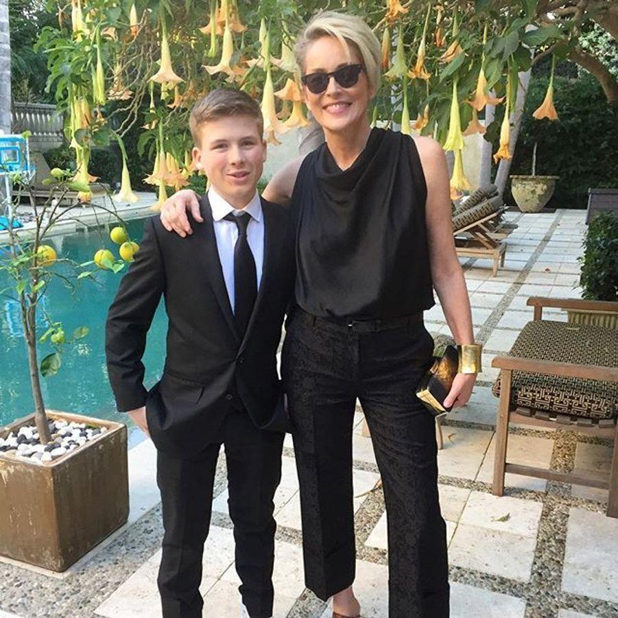 Sharon Stone et son fils